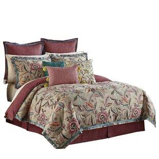 Waverly Key of Life 100% Cotton 4 Piece Reversible Comforter Set