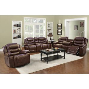 Ottawa 3 Piece Leather Living Room Set by Beverly Fine Furniture
