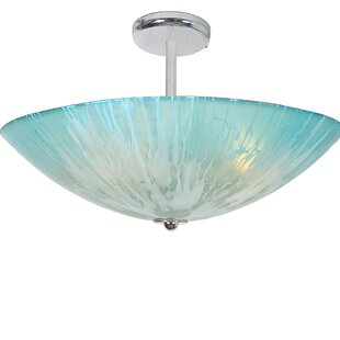 Orren Ellis Resler 4-Light Semi Flush Mount