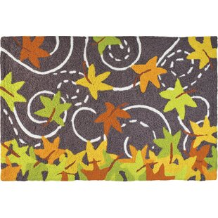 Ila Falling Leaves Utility Mat by The Holiday Aisle