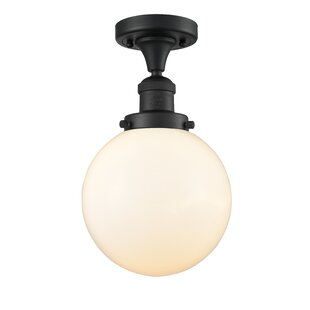 Adelaida 1-Light Semi Flush Mount by Wrought Studio