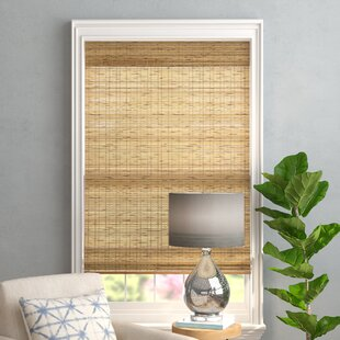 Tortoise Burnt Bamboo Cordless Window Shade