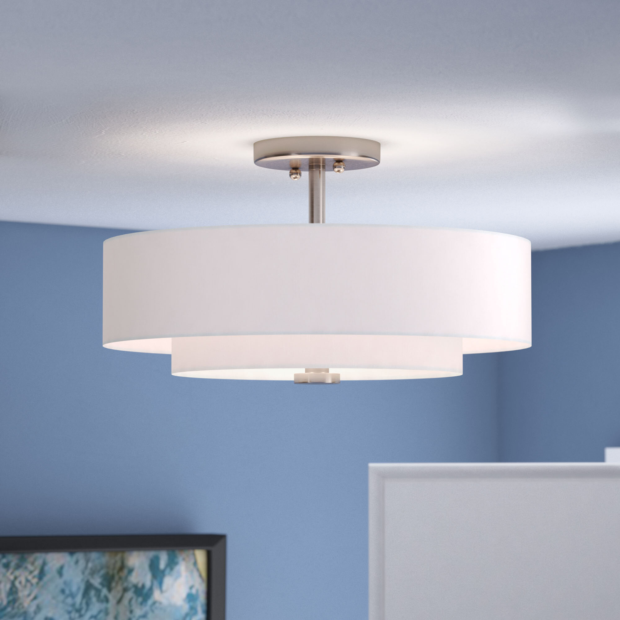 Latitude Run Joey 3-Light Semi-Flush Mount & Reviews | Wayfair