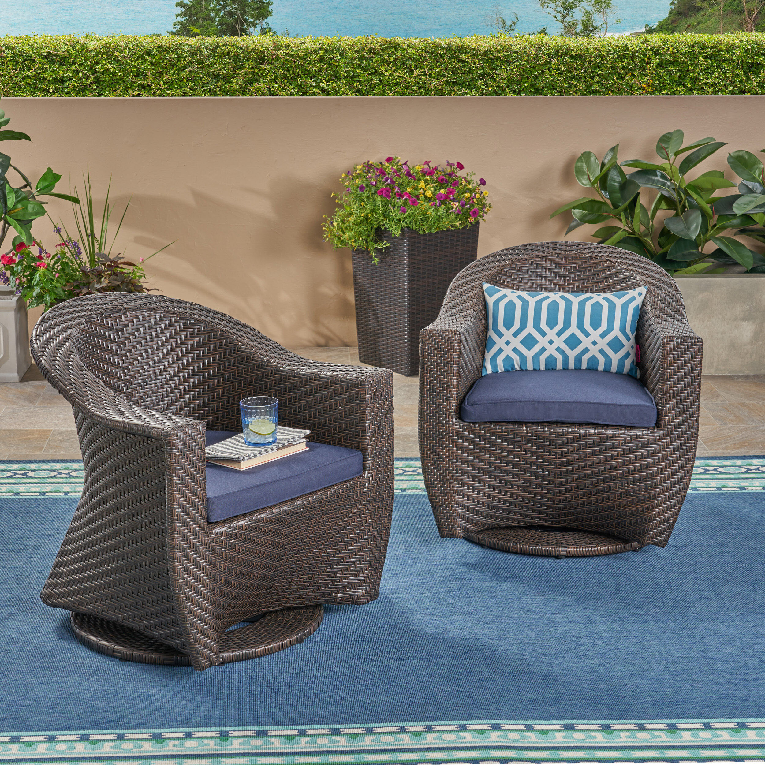 Wrought Studio Gaviota Patio Chairs With Cushions Reviews Wayfair