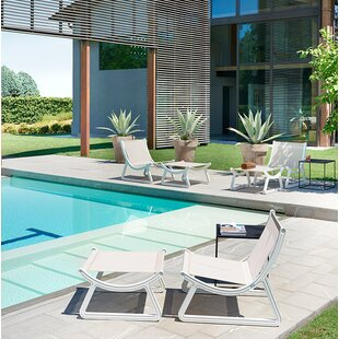 Arago Batyline Patio Chair with Cushion and Ottoman