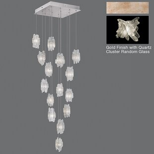 Natural Inspirations 15-Light Cluster Pendant by Fine Art Lamps