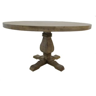 Gracie Oaks Poole Solid Wood Dining Table