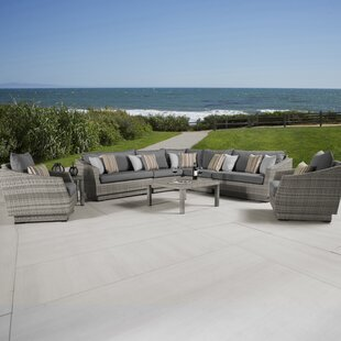 Wade Logan Castelli 9 Piece Sectional Set with Cushions