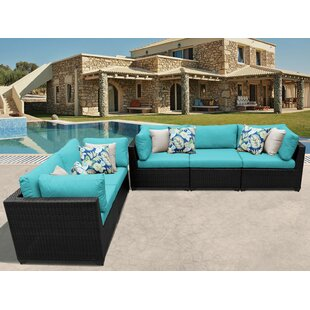 Meier Outdoor 5 Piece Sofa Seating Group with Cushions