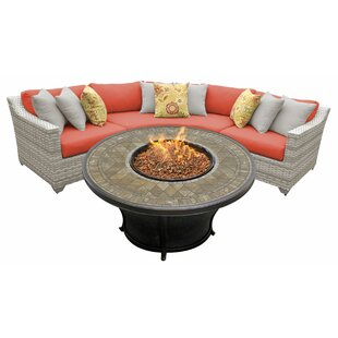 Falmouth 4 Piece Piece Sectional Seating Group With Cushions by Sol 72 Outdoor Sale