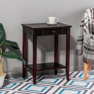 Kevin Single Drawer End Table with Storage by Longshore Tides