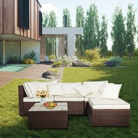 Deals on Bewley Patio 5 Piece Rattan Sectional Seating Group