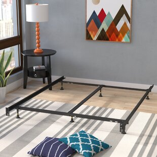 6 Leg Adjustable Metal Bed Frame by Symple Stuff Discount
