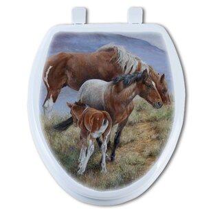TGC Artisans Seats Family Ties Mustang Round Toilet Seat