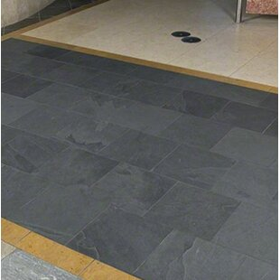 Montauk 12 X Slate Field Tile In Black Gray