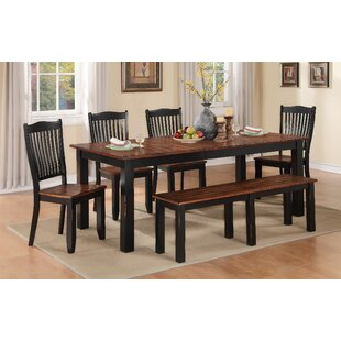 Manassa Extendable Solid Wood Dining Table Loon Peak