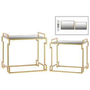Metal Rectangle 2 Piece Nesting Tables