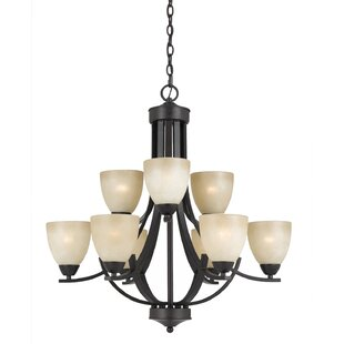 Red Barrel Studio Gorrell 9-Light Shaded Chandelier
