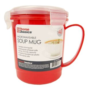 Plastic Microwaveable Soup 24 oz. Food Storage Container (Set of 2)