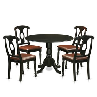 Spruill 5 Piece Drop Leaf Solid Wood Dining Set August Grove