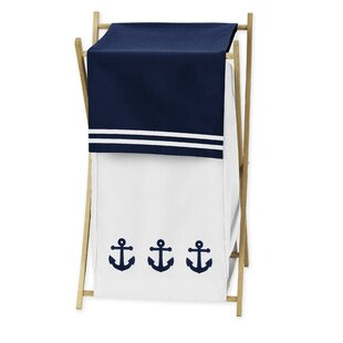 Sweet Jojo Designs Anchors Away Laundry Hamper