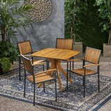Hartt Outdoor 5 Piece Dining Set