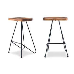 Finch Wood 28 Bar Stool (Set of 2) Union Rustic