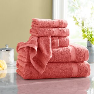 Towel-Set 1 1 face and guest All Gold 100/% Cotton Pink Sponge Pink