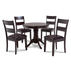 Cedarville 5 Piece Cappuccino Dining Set by Alco..