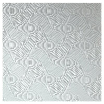 """Graham & Brown Paintable 33' x 20.5"""" Abstract 3D Embossed Wallpaper"""