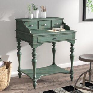 Sansom Solid Wood Secretary Desk by Laurel Foundry Modern Farmhouse