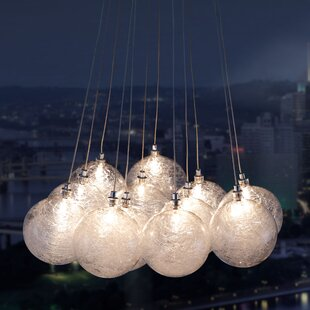 Cosmos 12-Light Cluster Pendant by dCOR design