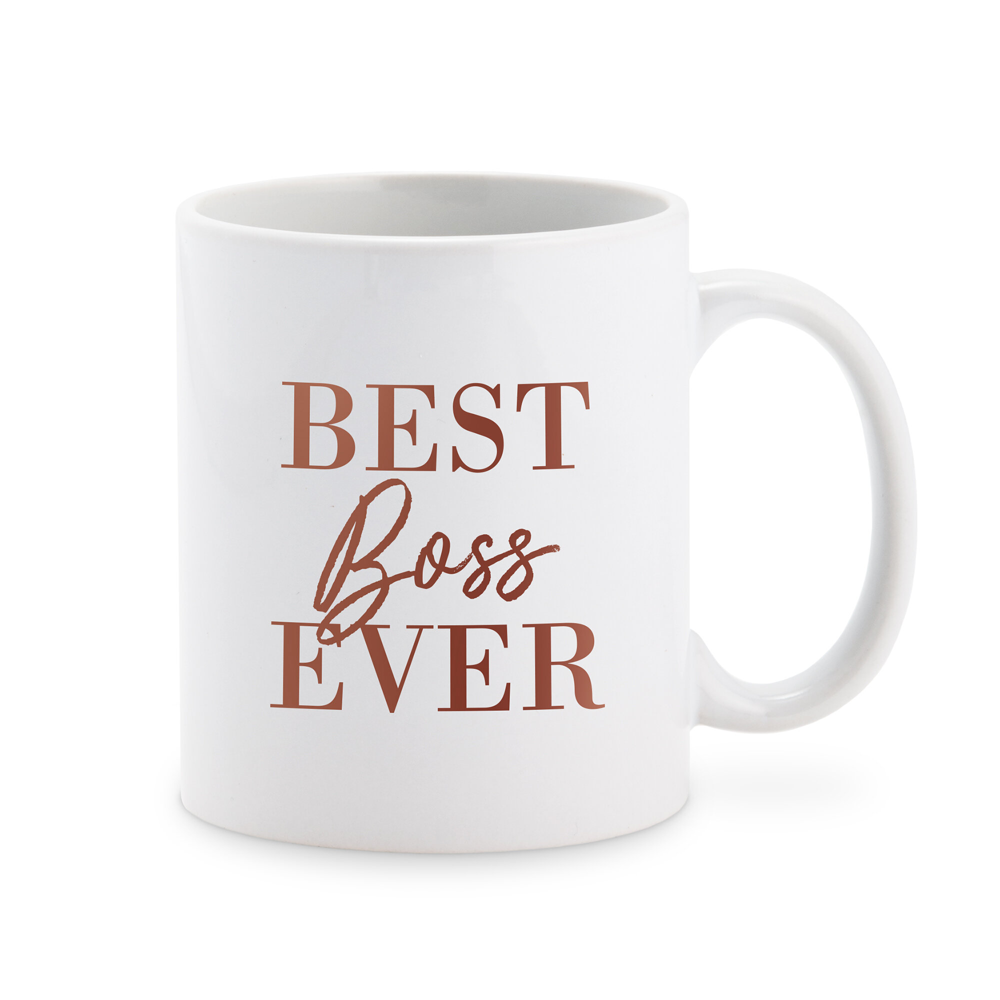 Personalised The Real Boss Coffee Mug