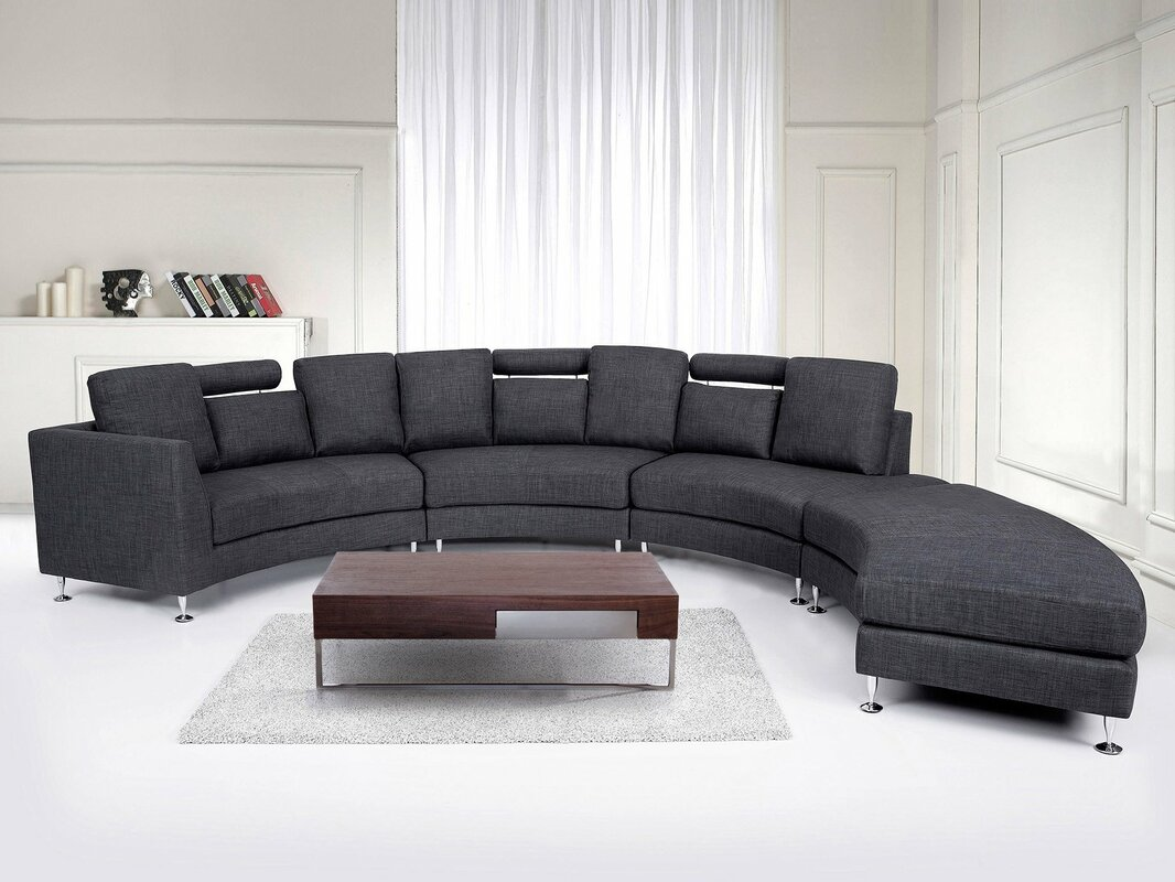 round sectional sofa bed. Crivello Curved Sectional Sofa Round Bed