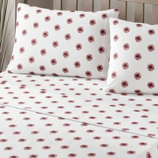 Brielle Pom Pom 100% Printed Cotton Jersey Sheet Set