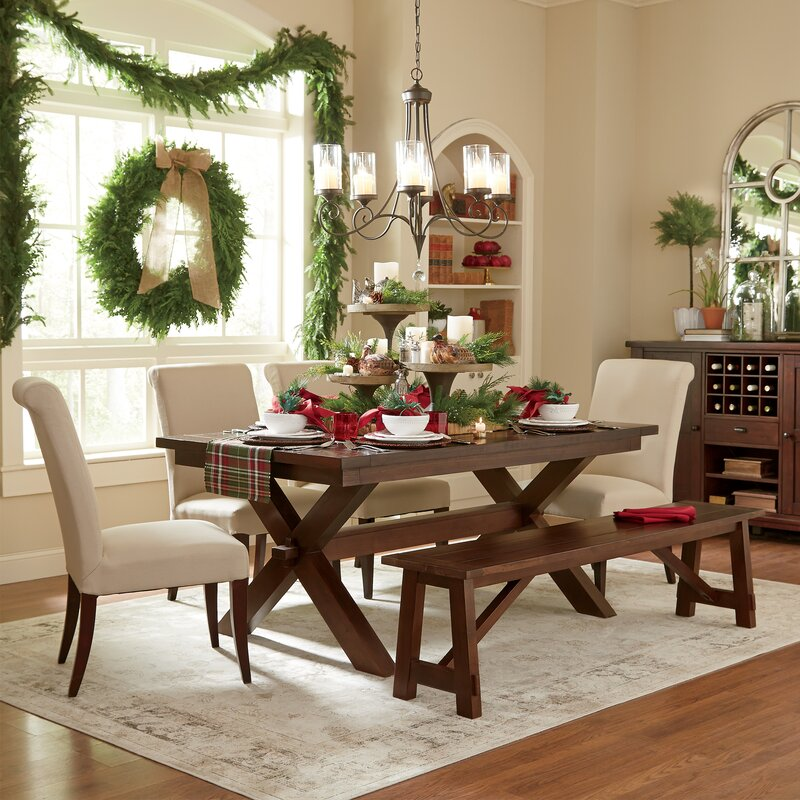 Holiday dining room with Gilmore Ivory Area rug