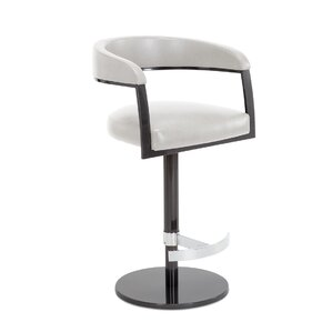 Zech Adjustable Swivel Bar Stool by Orren Ellis