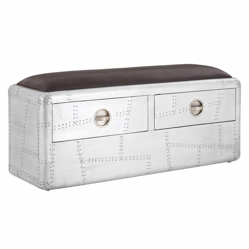 Williston Forge Marcellus Metal Storage Bedroom Bench Wayfair Co Uk