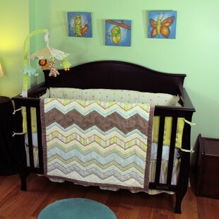 Compare prices Zig Zag Baby 4 Piece Crib Bedding Set By Nurture Imagination