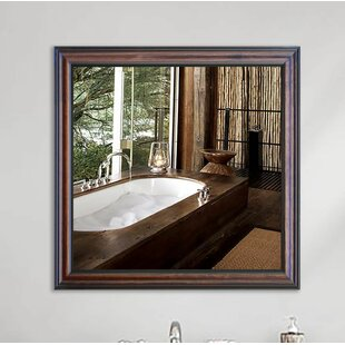 Darby Home Co Square Wooden Wall Mirror