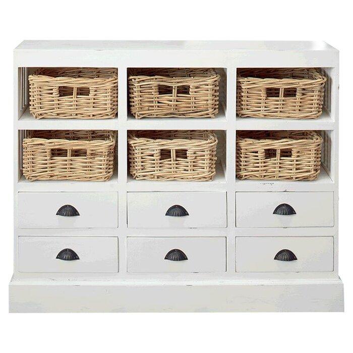 default_name - Beachcrest Home Goulding 6 Drawer And 6 Basket Storage Cabinet