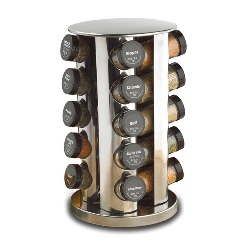 Revolving 20 Jar E Rack Set