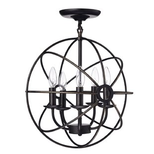 Leung 5-Light Semi Flush Mount..