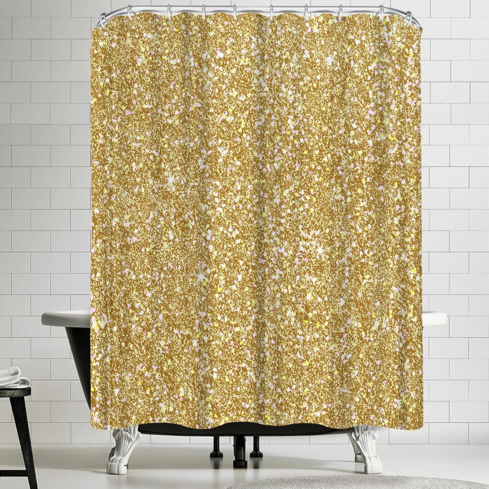 East Urban Home Wonderful Dream Golden Luxury Single Shower Curtain Wayfair