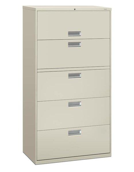 HON Brigade 600 Series 5 Drawer Lateral Filing Cabinet | Wayfair