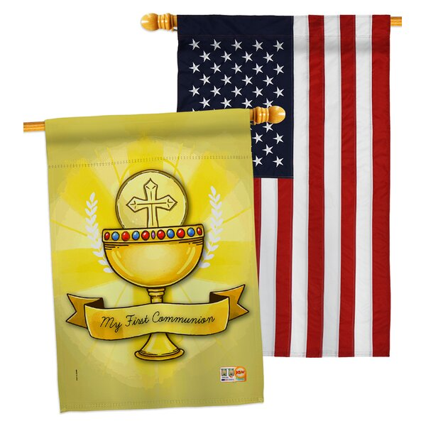 Breeze Decor My Holy Communion 2 Sided Polyester 40 X 28 In House Flag Wayfair