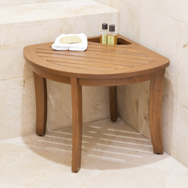 Three Posts Berau Corner Shower Stool & Reviews | Wayfair