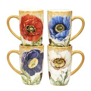 Gautreaux 4 Piece Coffee Mug Set