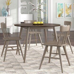 Bober Modern 5 Piece Solid Wood Dining Set