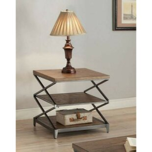 Brashears Wood and Metal End Table